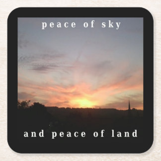 Peace of Sky and Land Sunset Coaster