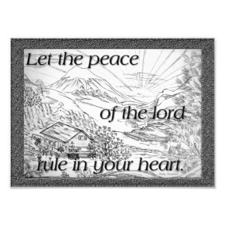 """""""Peace"""" of the Lord Photographic Print"""