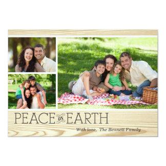 Peace on Earth 13 Cm X 18 Cm Invitation Card