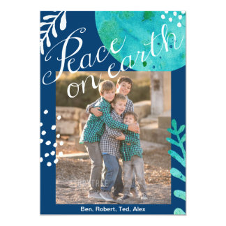 Peace on earth 5x7 two sided photo card