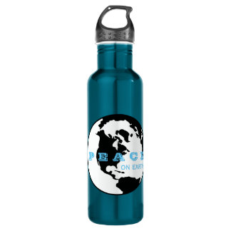 Peace on earth 710 ml water bottle