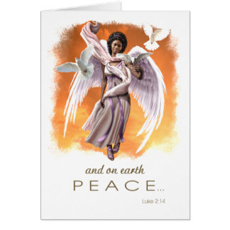 Peace on Earth. Afro Angel Christmas Cards