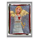Peace on Earth Angel - Christmas card