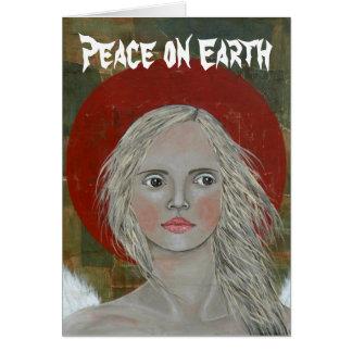 Peace on Earth Angel Christmas Card