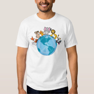Peace On Earth Animals T-shirts