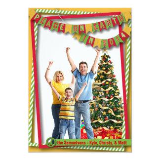 Peace on Earth Bright Photo Card 13 Cm X 18 Cm Invitation Card