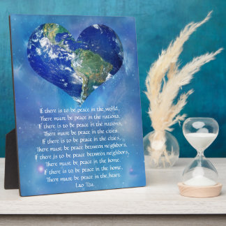 Peace on Earth by Lao Tzu Plaque