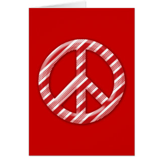 Peace on Earth Candy Cane Greeting Card