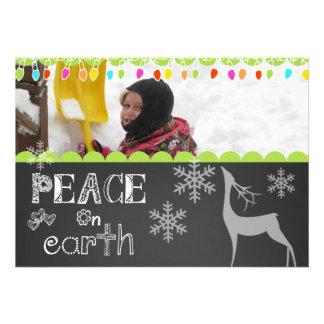 Peace on Earth Chalkboard Holiday Photo Card