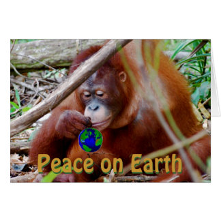 Peace on Earth Charity Holiday Greetings Note Card