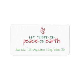 Peace on Earth Christmas Address Label