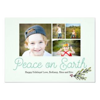 Peace on Earth Christmas Card 5x7 13 Cm X 18 Cm Invitation Card