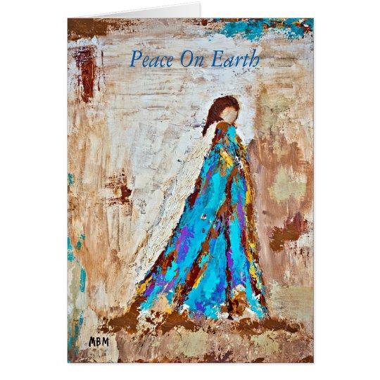 Peace on Earth Christmas card (blank inside)