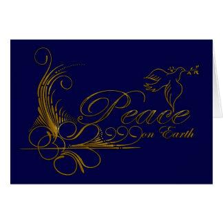 Peace On Earth Christmas Card With Dove