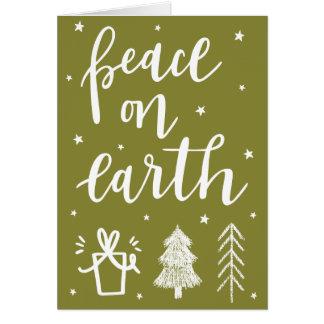 """Peace on Earth"" Christmas Greeting Card"