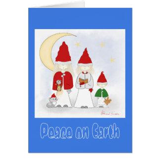 Peace on Earth Christmas Holiday Greeting Card