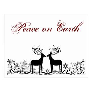 Peace on Earth Christmas Holiday Greeting Card Postcard