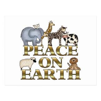 Peace On Earth Christmas Postcards