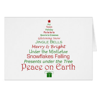 Peace on Earth Christmas Tree Card