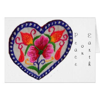 Peace on Earth Christmas White Card