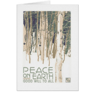 Peace On Earth Craftsman Christmas Card