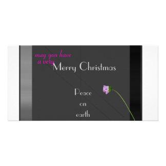 Peace on Earth Customised Photo Card