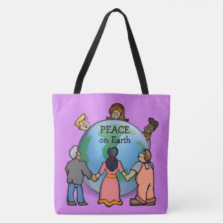 PEACE on Earth Cute Tote Bag