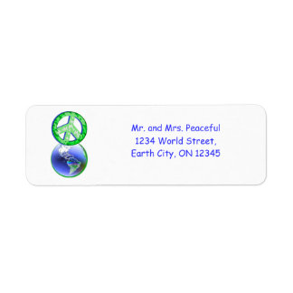 Peace on Earth Day Return Address Label
