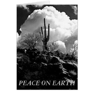 Peace on Earth Desert Scene Greeting Card