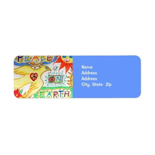 Peace on Earth Dove Address Avery Label Return Address Label