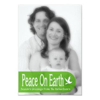"Peace On Earth Dove Holiday Photo Card 3.5"" X 5"" Invitation Card"