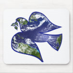 Peace on Earth Dove Mouse Mat