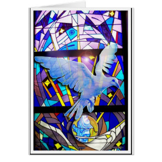 Peace on Earth Easter Dove Greeting Card