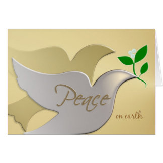 Peace on Earth - Elegant Holiday ChristmasCard Greeting Card