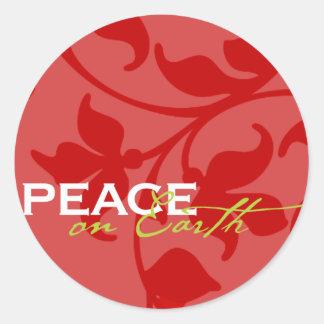 Peace on Earth Envelope Enclosure Sticker