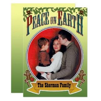 Peace on Earth Family Photo 13 Cm X 18 Cm Invitation Card