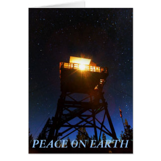 Peace on Earth Fire Lookout Tower Greeting Card