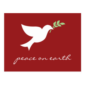 Peace On Earth Flat Holiday Card Postcard