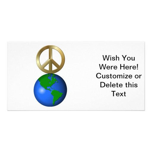 Peace On Earth Fun Rebus Holiday Greeting Picture Card