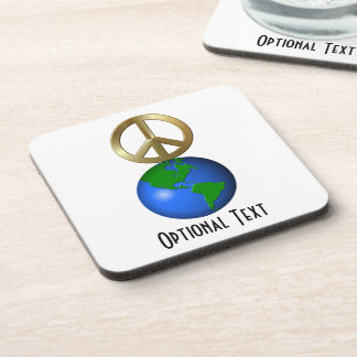 Peace on Earth Fun Rebus Style Word Puzzle Coasters