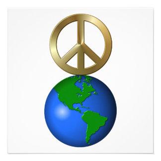 Peace on Earth Fun Rebus Style Word Puzzle Custom Invites