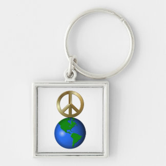 Peace on Earth Fun Rebus Style Word Puzzle Keychains