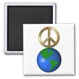 Peace on Earth Fun Rebus Style Word Puzzle Fridge Magnet