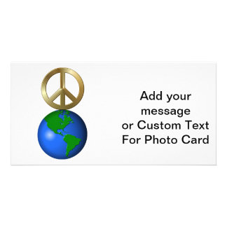 Peace on Earth Fun Rebus Style Word Puzzle Photo Card Template