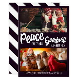 Peace on Earth, Goodwill Toward Men Christmas Card