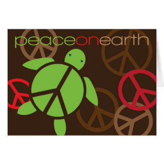 Peace on Earth Happy Honu Holiday Greeting Card