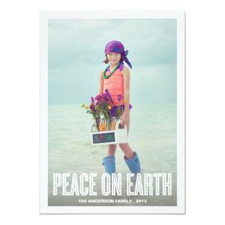 PEACE ON EARTH | HOLIDAY PHOTO CARD 13 CM X 18 CM INVITATION CARD