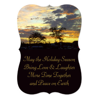 Peace on Earth Holiday Season Card by RoseWrites 13 Cm X 18 Cm Invitation Card
