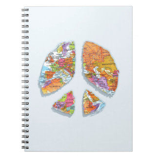 Peace On Earth II Spiral Notebook