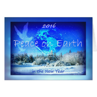Peace on Earth in the New Year, Planet Earth Greeting Card